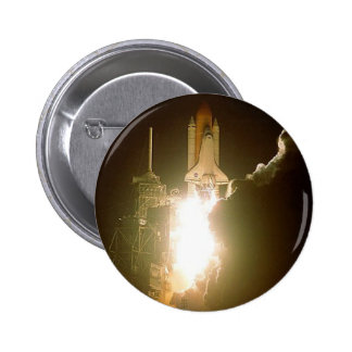 SPACE SHUTTLE LIFT-OFF 2 INCH ROUND BUTTON