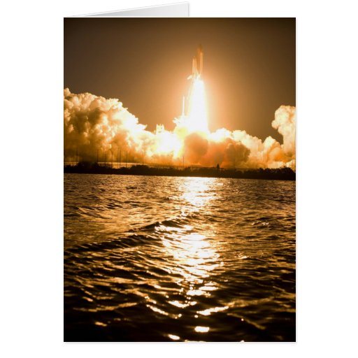 Space Shuttle Lift Off Greeting Card