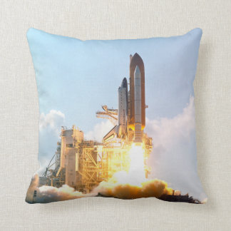Space Shuttle Lifts Off & Returns - See Both Sides Throw Pillow