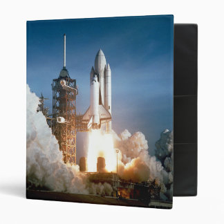 Space Shuttle Lifts Off - See Both Sides 3 Ring Binder