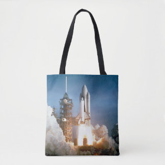 Space Shuttle Lifts Off Tote Bag