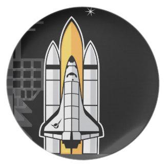 Space shuttle melamine plate