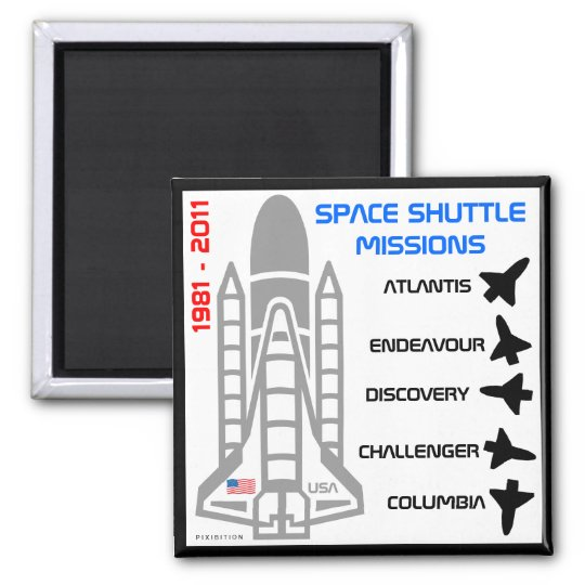 Space Shuttle Missions Magnet 5