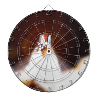 Space Shuttle Night Launch Illustration Dartboard
