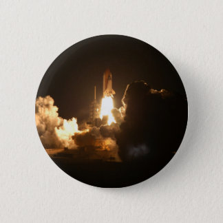 Space Shuttle Night Launch Poster Button