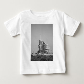 Space Shuttle on Launch Pad in Black and White Baby T-Shirt
