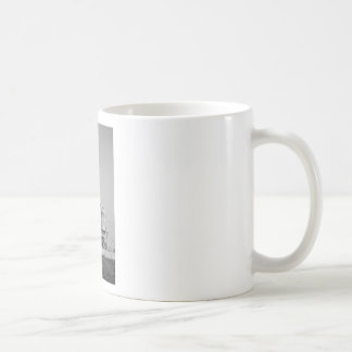 Space Shuttle on Launch Pad in Black and White Coffee Mugs