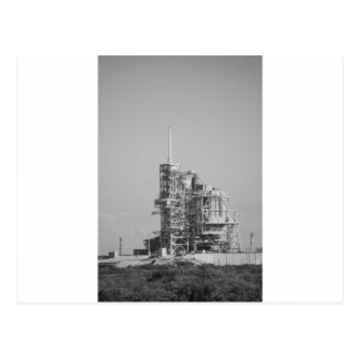 Space Shuttle on Launch Pad in Black and White Postcards