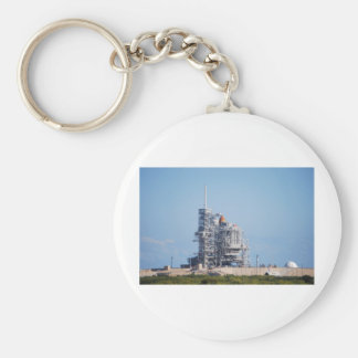 Space Shuttle on Launch Pad Keychain