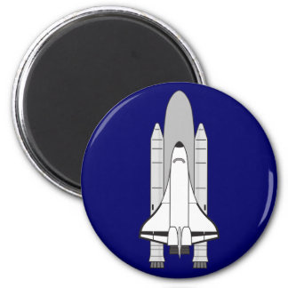 Space Shuttle Orbiter and Boosters 2 Inch Round Magnet