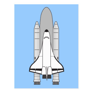Space Shuttle Orbiter and Boosters Postcard