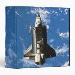 Space Shuttle Orbiting Earth 2 3 Ring Binder