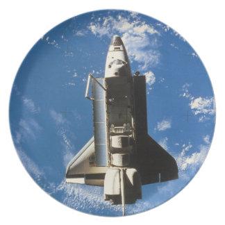 Space Shuttle Orbiting Earth 2 Melamine Plate