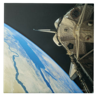 Space Shuttle Orbiting Earth 4 Tile