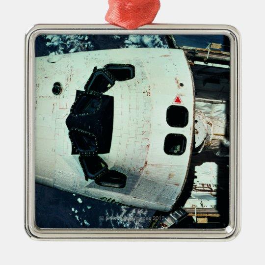 Space Shuttle Orbiting Earth Metal Ornament
