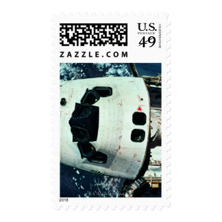 Space Shuttle Orbiting Earth Stamp