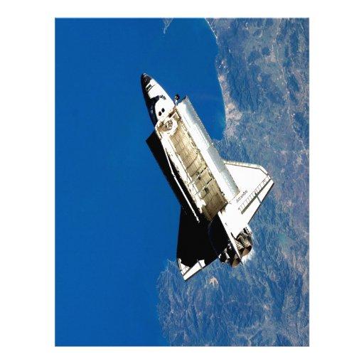 space shuttle outer space astronautics nasa customized letterhead