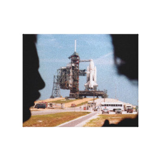 Space Shuttle Pre-launch wrapped canvas