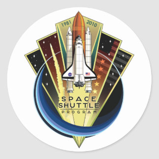 Space Shuttle Program Commemorative Patch Classic Round Sticker