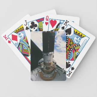 Space Shuttle Releasing Satellite Bicycle Playing Cards