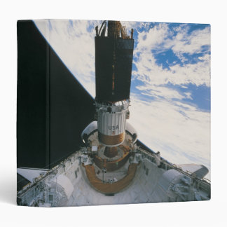 Space Shuttle Releasing Satellite 3 Ring Binder