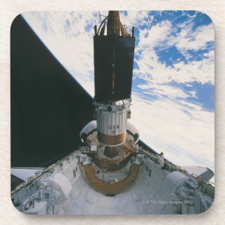 Space Shuttle Releasing Satellite Drink Coaster