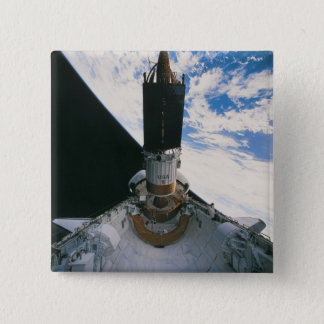 Space Shuttle Releasing Satellite Pinback Button