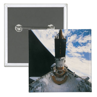 Space Shuttle Releasing Satellite Pinback Button