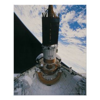 Space Shuttle Releasing Satellite Poster