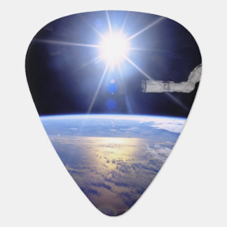 Space Shuttle Robot Arm Earth Orbit Sunburst Guitar Pick