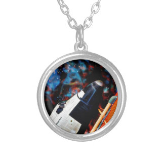Space Shuttle Silver Plated Necklace