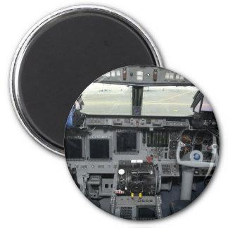 Space Shuttle Sim Aircraft Cockpit 2 Inch Round Magnet