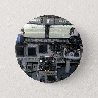 Space Shuttle Sim Aircraft Cockpit Pinback Button