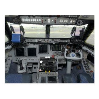 Space Shuttle Sim Aircraft Cockpit Postcard