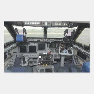 Space Shuttle Sim Aircraft Cockpit Rectangular Sticker