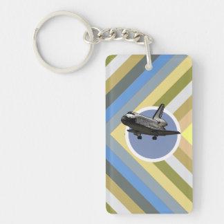 Space Shuttle Single-Sided Rectangular Acrylic Keychain