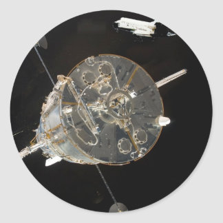 Space Shuttle SkyLab Classic Round Sticker
