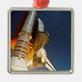 Space Shuttle take off Metal Ornament