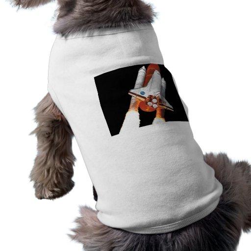 Space Shuttle Transport Dog Tee Shirt