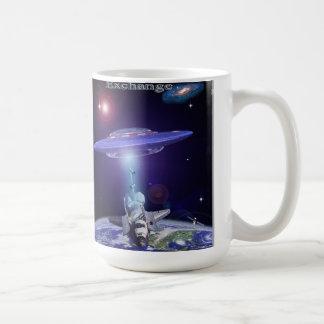 Space shuttle UFO exchange Coffee Mug