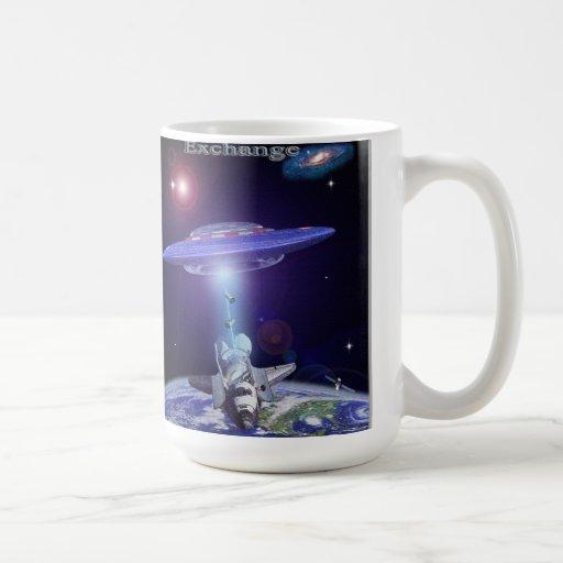Space shuttle UFO exchange Classic White Coffee Mug