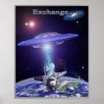 Space shuttle ufo exchange print
