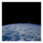 Space shuttle view of Earth Print