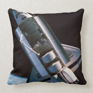 Space Shuttle with Open Cargo Bay Throw Pillow