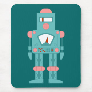Space Siren Robot Mouse Pad