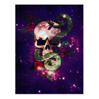 space skull postcard