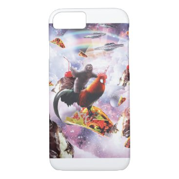 Space Sloth Riding Chicken - Ice Cream & Taco iPhone 8/7 Case