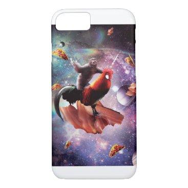 Space Sloth Riding Chicken Unicorn - Bacon & Taco iPhone 8/7 Case