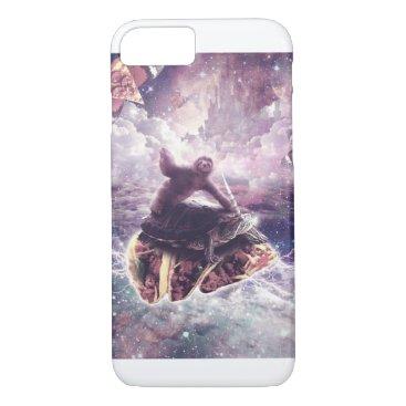 Space Sloth Riding Turtle Unicorn - Pizza & Taco iPhone 8/7 Case