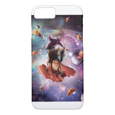 Space Sloth Riding Wolf Unicorn - Bacon & Taco iPhone 8/7 Case
